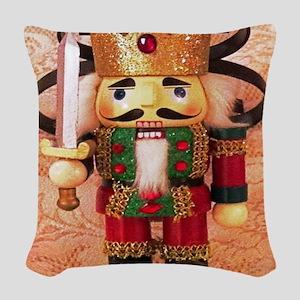 Holiday Nutcracker Woven Throw Pillow