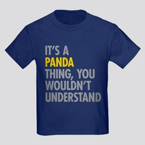 Its A Panda Thing Kids Dark T-Shirt