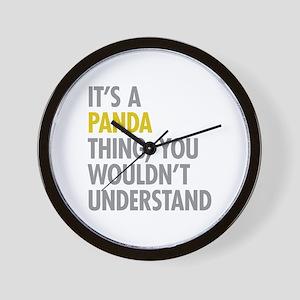 Its A Panda Thing Wall Clock