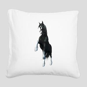 Fantasy Shire Horse Square Canvas Pillow