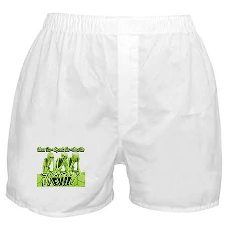 See-Speak-Hear-No EVIL Lime 2 Boxer Shorts