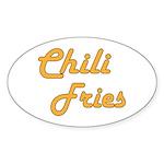 Chili Fries Sticker (Oval 50 pk)