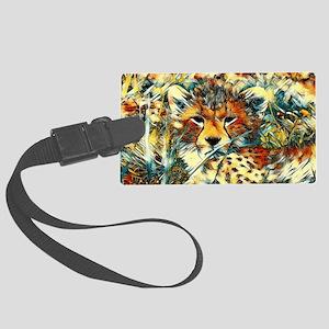 AnimalArt_Cheetah_20171001_by_JA Large Luggage Tag