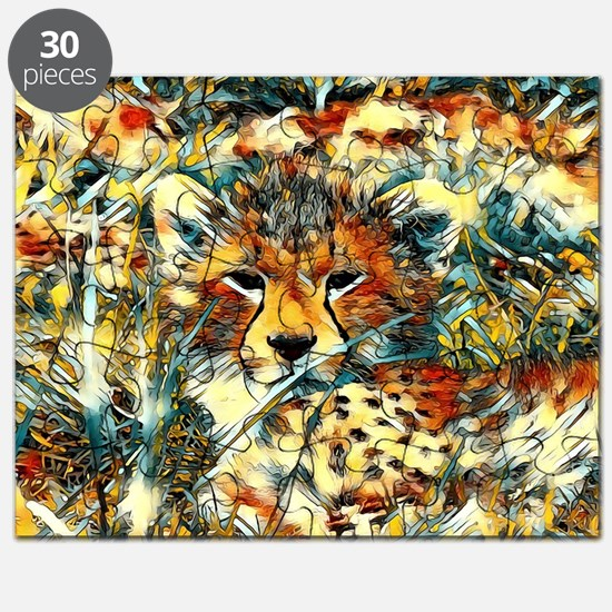 AnimalArt_Cheetah_20171001_by_JAMColors Puzzle
