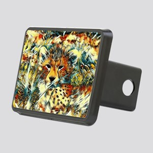 AnimalArt_Cheetah_20171001 Rectangular Hitch Cover