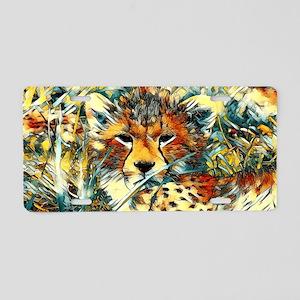 AnimalArt_Cheetah_20171001_ Aluminum License Plate