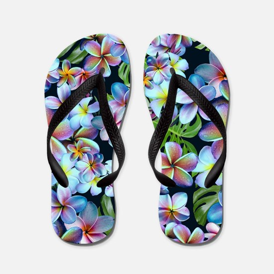 Cute Hawaiian flowers Flip Flops