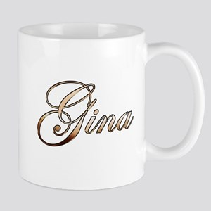 Gold Gina Mugs