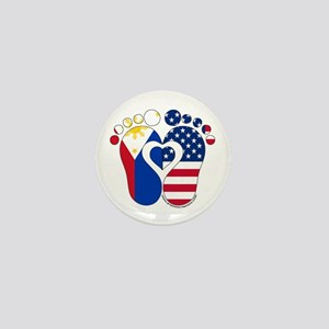 Filipino American Baby Mini Button