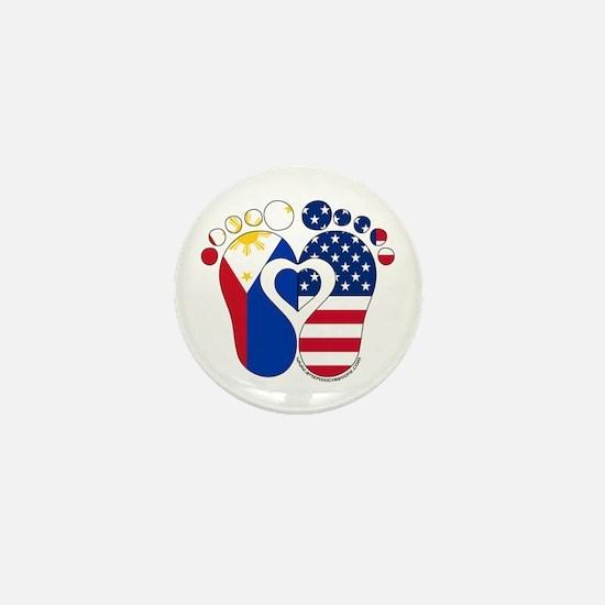 Filipino American Baby Mini Button