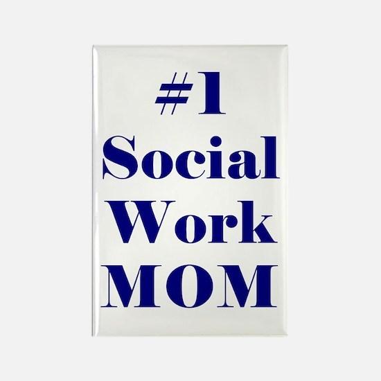 #1 Social Work Mom Rectangle Magnet (10 pack)