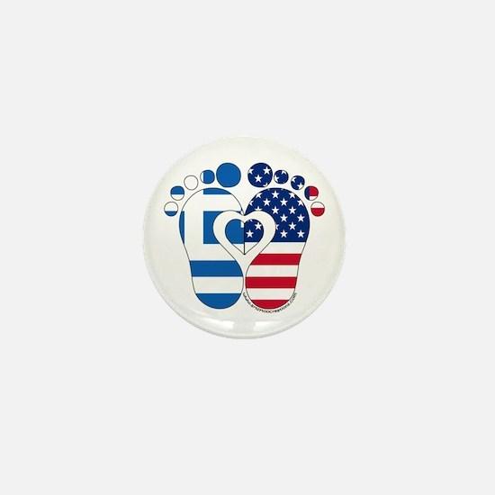 Greek American Baby Mini Button