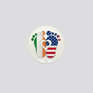 Irish American Baby Mini Button