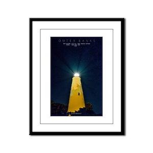 Ocracoke Light. Framed Panel Print