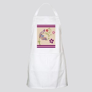 Purple Stripe Peacock Apron