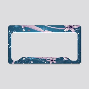 Flower Dream License Plate Holder