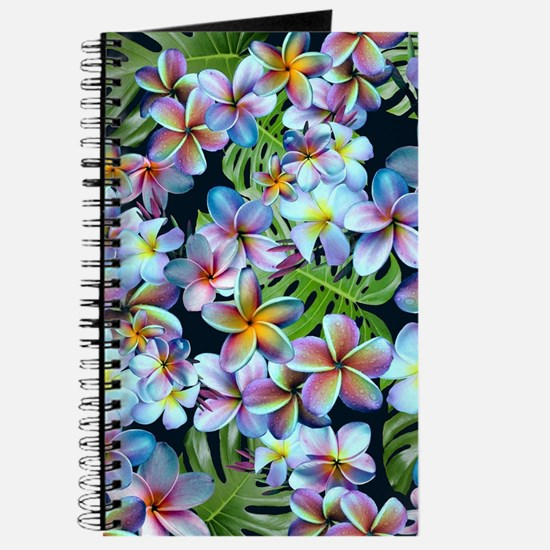 Rainbow Plumeria Dark Journal