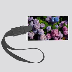 purple, blue, and pink hydrangeas rectangle Luggag