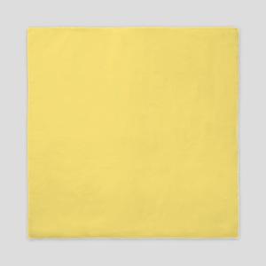 Solid Yellow Queen Duvet