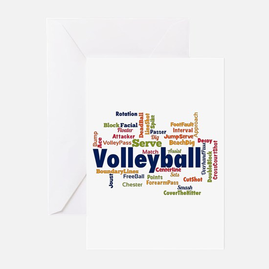 Volleyball Greeting Cards