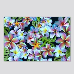Rainbow Plumeria Dark Postcards (Package of 8)