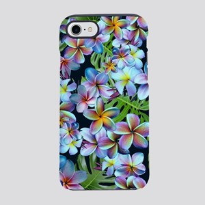 Rainbow Plumeria Dark iPhone 7 Tough Case