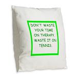 tennis Burlap Throw Pillow