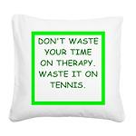 tennis Square Canvas Pillow