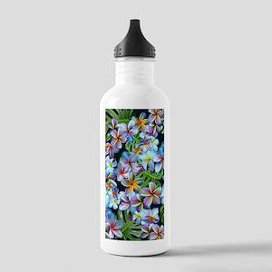 Rainbow Plumeria Dark Stainless Water Bottle 1.0L