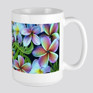 Rainbow Plumeria Dark Mugs