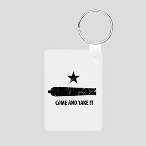 Come and Take It Aluminum Photo Keychain