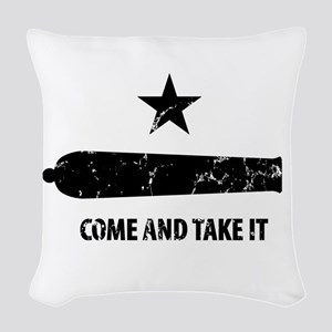Come and Take It Woven Throw Pillow