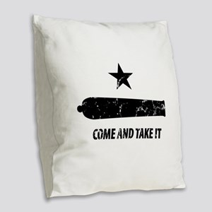 Come and Take It Burlap Throw Pillow