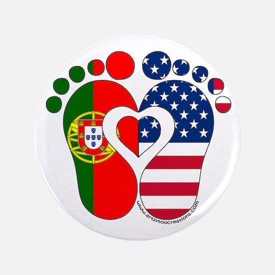 """Portuguese American Baby 3.5"""" Button"""
