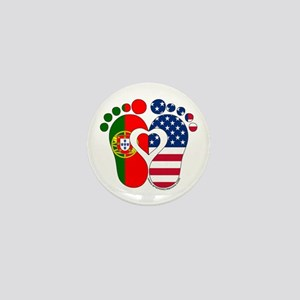 Portuguese American Baby Mini Button