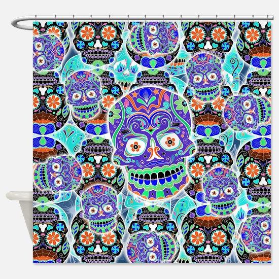 Cute All souls day Shower Curtain
