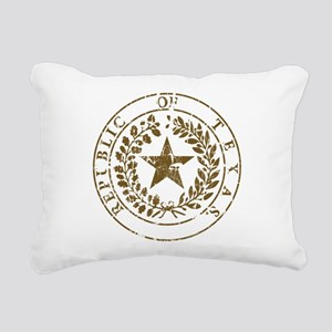 Republic of Texas Seal Distressed Rectangular Canv