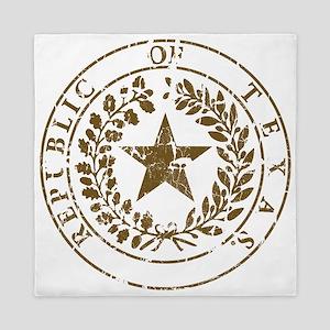 Republic of Texas Seal Distressed Queen Duvet