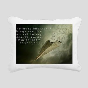 Words are never enough Rectangular Canvas Pillow
