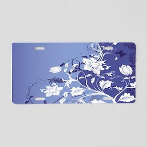 Floral Joy Aluminum License Plate