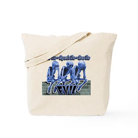 See-Speak-Hear-No EVIL Blue Tote Bag