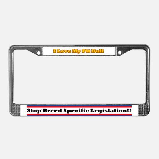License Plate Frame - Yellow