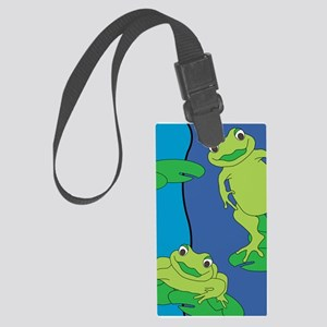 Two Frogs Pattern Large Luggage Tag