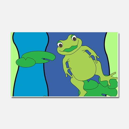 Two Frogs Pattern Car Magnet 20 x 12