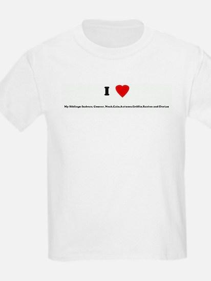 I Love My Siblings: Isabeau,  T-Shirt