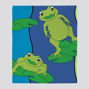Two Frogs Pattern Throw Blanket