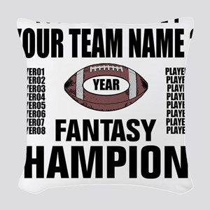 YOUR TEAM FANTASY CHAMPIONS Woven Throw Pillow