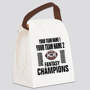 YOUR TEAM FANTASY CHAMPIONS Canvas Lunch Bag