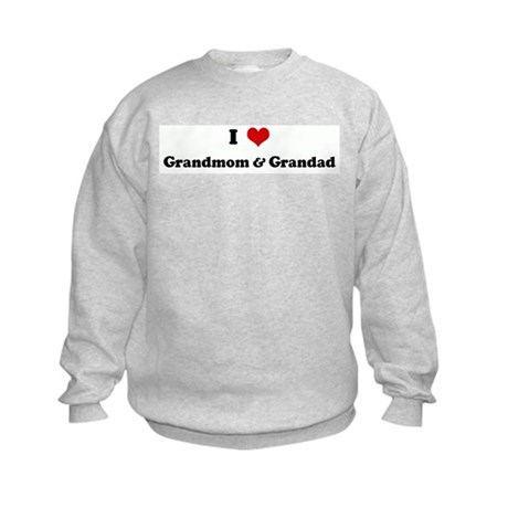 I Love Grandmom & Grandad Kids Sweatshirt