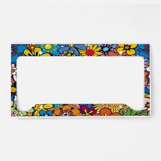 Flower Pattern License Plate Holder